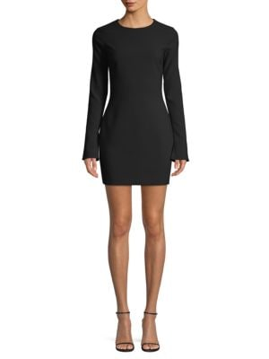 LIKELY Manhattan Long Sleeve Sheath Dress in Black