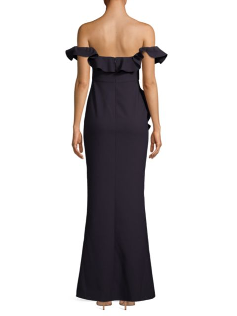Likely Miller Off-The-Shoulder Ruffled Gown | SaksFifthAvenue