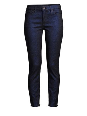Nico Mid-Rise Skinny Ankle Glitter Jeans