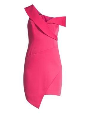 Bcbgmaxazria Micro Satin Bias Cut Hem Dress