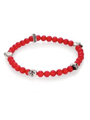 King Baby Studio Red Coral Beaded Bracelet