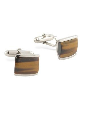 Top 10 Jewelry Gift Sterling Silver Tigers Eye Cuff Links