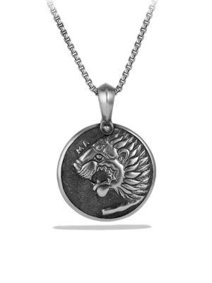 DAVID YURMAN Petrvs Lion Coin Amulet in Metallic