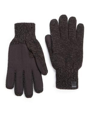 BICKLEY + MITCHELL Melange Knit Gloves in Black