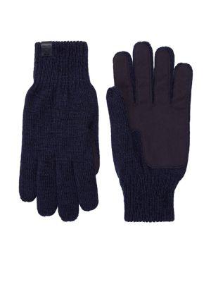 BICKLEY + MITCHELL Melange Knit Gloves in Navy