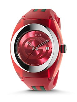 459c2b66c8f Gucci. Sync Stainless Steel Rubber Watch