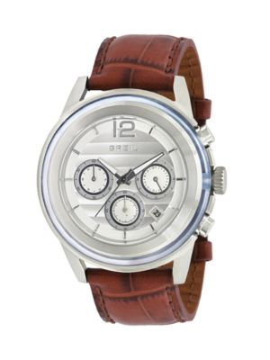 BREIL Stainless Steel Chronograph Watch in Stainless Steel Brown