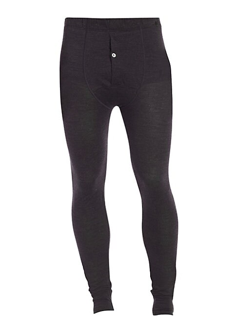 """Image of A classic long john pajama pant crafted from a superior blend of wool and silk for ultimate comfort and warmth. .Elasticized waist. Single-button fly. Inseam, about 32"""".Wool/silk. Machine wash. Imported."""