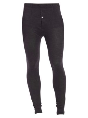 "Image of A classic long john pajama pant crafted from a superior blend of wool and silk for ultimate comfort and warmth. .Elasticized waist. Single-button fly. Inseam, about 32"".Wool/silk. Machine wash. Imported."