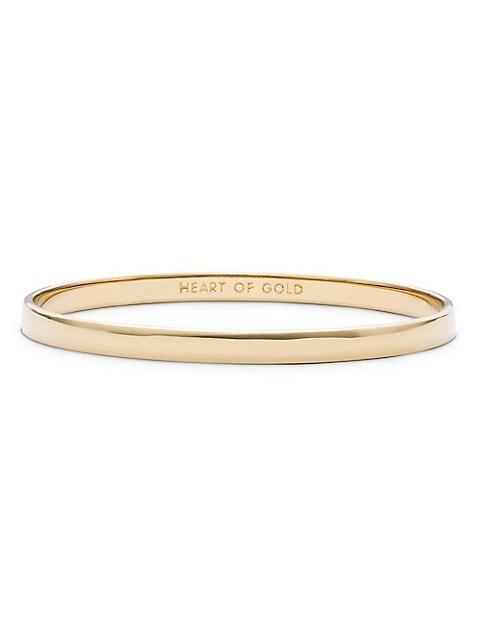 Heart Of Gold Engraved Idiom Bangle Bracelet