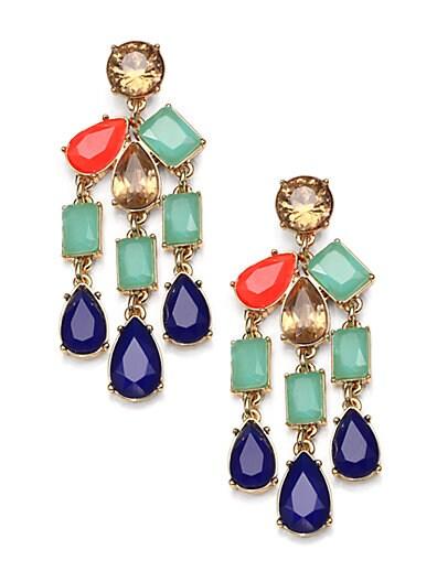 Kate Spade New York Multi Stone Chandelier Earrings