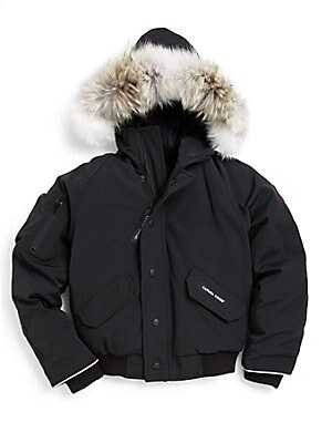 908208246bf9 Canada Goose - Kid s Fur-Trimmed Down Bomber Jacket