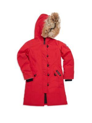 c932c0826 Canada Goose - Kid s Brittania Fur-Trim Down Parka - saks.com