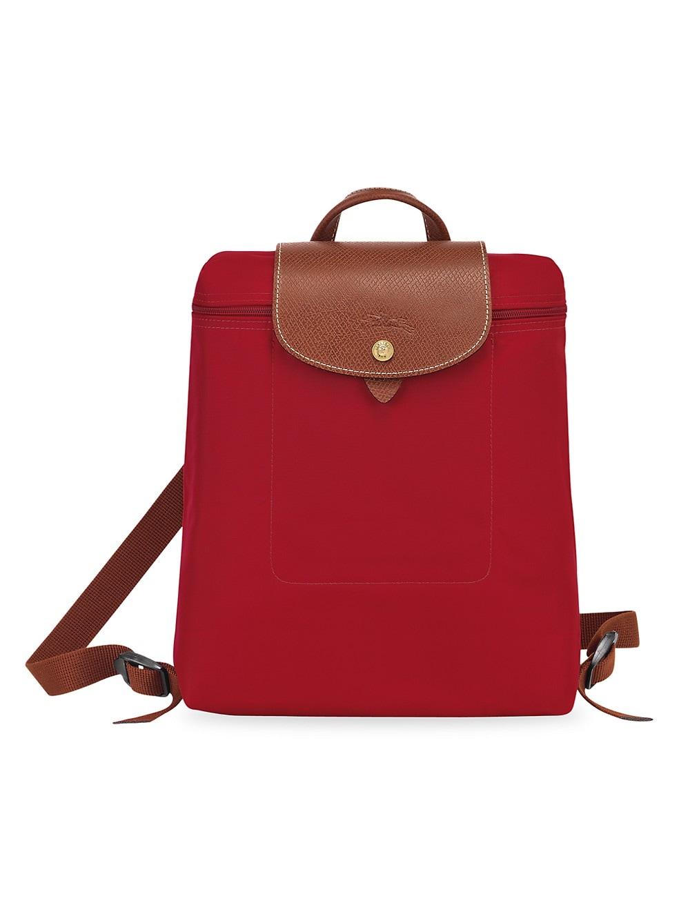 롱샴 백팩 Longchamp Le Pliage Backpack,DEEP RED