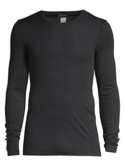 4a7131b6 Product image. QUICK VIEW. Hanro. Woolen Silk Long Sleeve Crewneck Tee