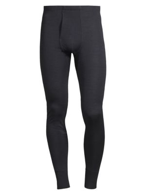 Image of Ideal for smooth layering under pants or denim in colder temperatures, this long pant is crafted in a luxurious blend of merino wool and silk, while a soft elastic waistband and cuffs offer a custom, secure fit. .Elastic waistband. Merino wool/silk. Machi