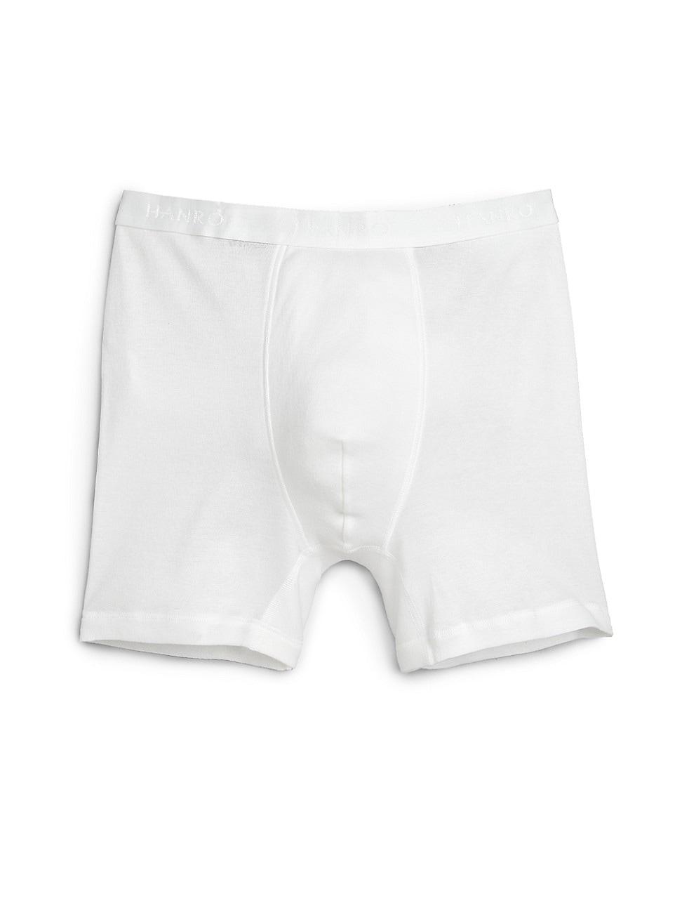 Hanro Men's Cotton Pure Boxer Briefs In White