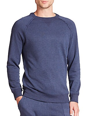 Image of A pullover with an overall slim fit and a casual crew neckline. Crewneck Long sleeves Ribbed cuffs and hem Cotton/polyester/rayon Machine wash Imported. Men Accessories - Underwear. 2(X)IST. Color: Black Heather. Size: L.