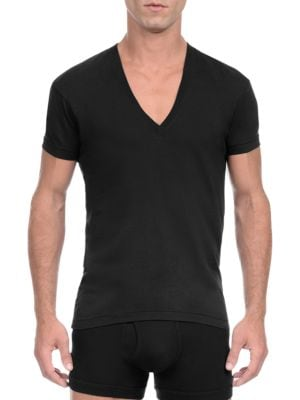 Image of 2XIST Pima Cotton Slim-Fit V-Neck Tee