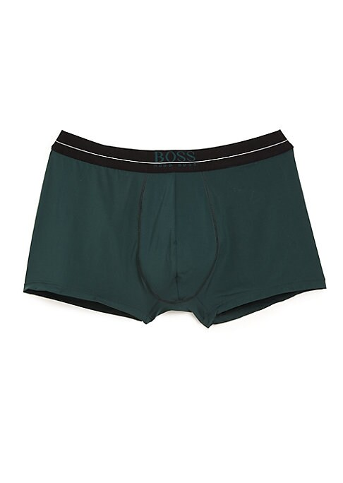 Image of Stretch boxer briefs topped with an elasticized logo waistband provides everyday comfort. Elasticized logo waistband. Polyamide/elastane. Machine wash. Imported.