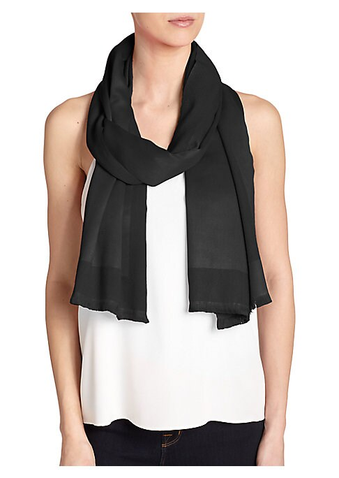 """Image of A blend of luxurious silk and cashmere, this colorful wrap energizes any warm weather outfit.24""""W X 76""""L.Cashmere/silk. Dry clean. Imported."""