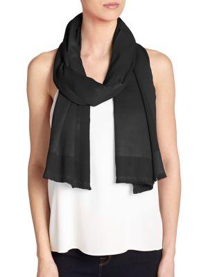 BAJRA Frame Satin Weave Scarf in Black