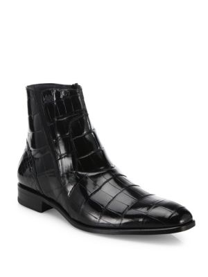 MEZLAN 'Belucci' Alligator Boot in Black