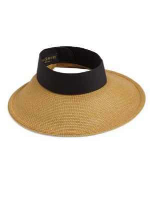Eric Javits  Squishee Halo  Hat - Beige In Natural  Black  8f58a4bccac