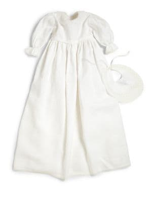 Baby's Lace-Trimmed Christening Dress
