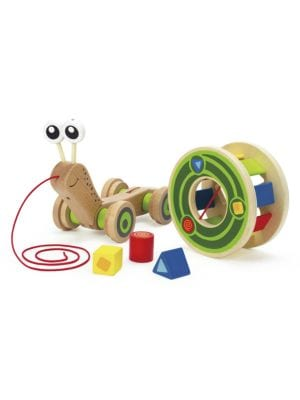 Wooden WalkALong Snail Toy