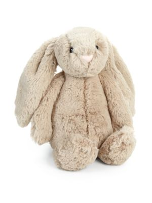 "Jellycat White Bashful Bunny Rabbit Polka Dot Ears Plush Small 8"" Super Soft EU"