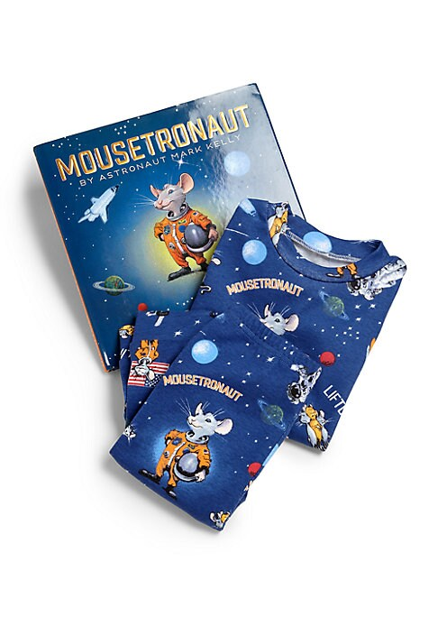 """Image of Astronaut Mark Kelly flew with """"mice-tronauts"""" on his first spaceflight aboard space shuttle Endeavour in 2001. This delightful book tells the story of a small mouse that wants nothing more than to travel to outer space. The little mouse works as hard as"""