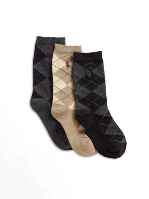 Boys ThreePair Slack Polo Player Socks