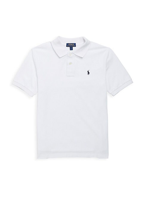 Image of Classic, short-sleeve cotton mesh polo with embroidered polo pony on the chest. Ribbed polo collar and armbands. Button placket. Machine wash. Imported.