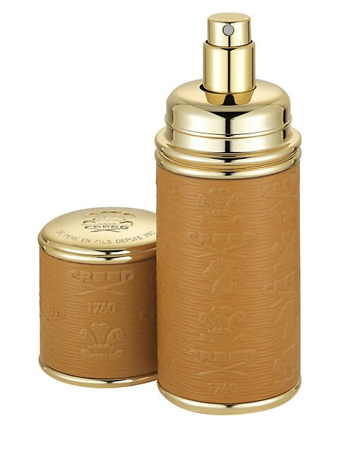 Camel with Gold Trim Leather Deluxe Atomizer