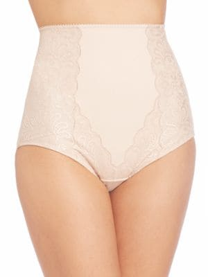 LE MYSTERE Sophia Lace High-Waist Brief in Almond