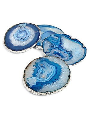 ANNA by RabLabs Set of Four Agate Coasters