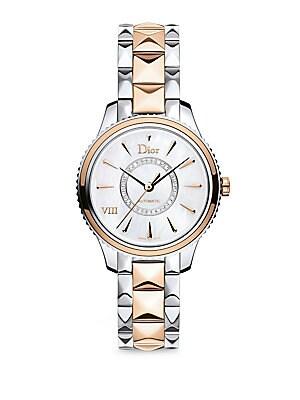 Dior Dior Viii Montaigne Diamond 18k Rose Gold Stainless Steel