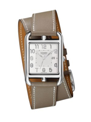Cape Cod Gm Stainless Steel & Leather Strap Watch in Smooth Orange