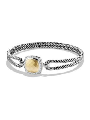 David Yurman Albion Bracelet With Diamonds In Gold Dome