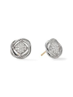 Infinity Earrings With Diamonds by David Yurman