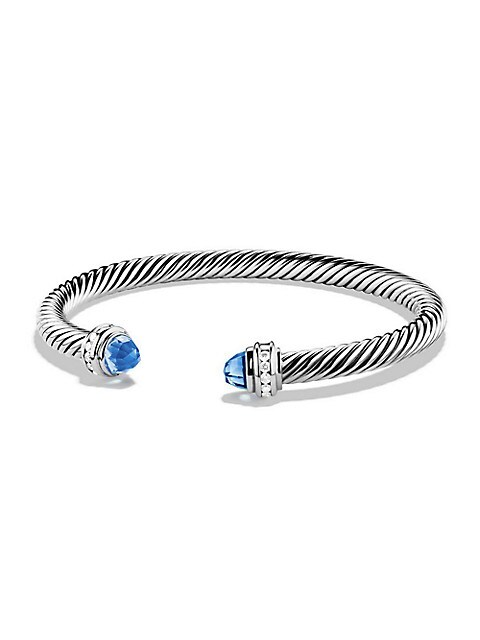 Cable Classics Bracelet with Gemstone & Diamonds