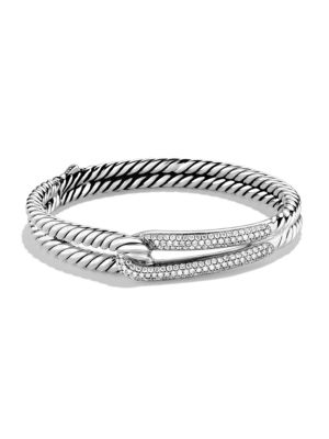 David Yurman Labyrinth Single Loop Bracelet With Diamonds