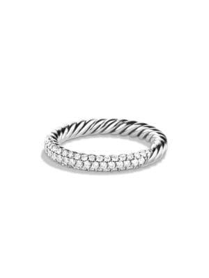 c57ae2d06fae88 David Yurman - Petite Pavé Ring with Diamonds - saks.com