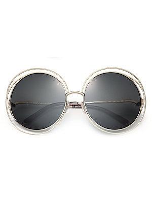 372c180f835 Chloé - Carlina 62MM Round Metal Sunglasses - saks.com