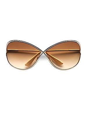 a977c73a79a7b Tom Ford - Miranda Oversized Round Sunglasses - saks.com