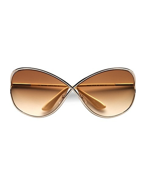 Miranda 68MM Oversized Round Sunglasses