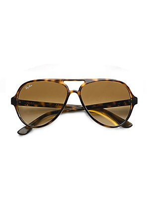 e91f3ee52b Ray-Ban - Iconic Cats 5000 Aviator Sunglasses - saks.com