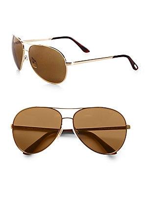 17c3254cbe10 Tom Ford - Charles Polarized Aviator Sunglasses - saks.com