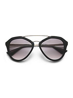 c68e84406b6 Prada - 54MM Mirrored Aviator Sunglasses - saks.com